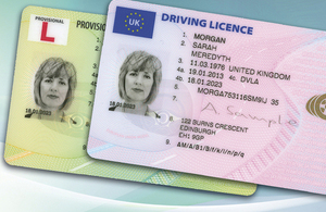 New style photocard driving licence