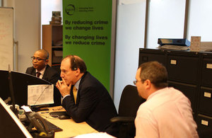 Simon Hughes MP at Nacro headquarters