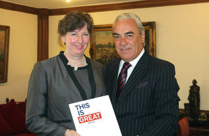 Ms Fiona Clouder and Director of Protocol of the Chilean MFA, Mr James Sinclair.