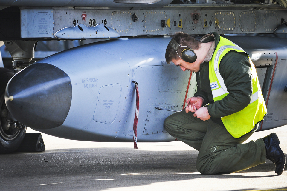 An RAF engineer