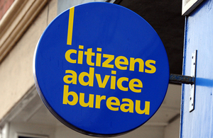 A sign above a Citizens Advice Bureau