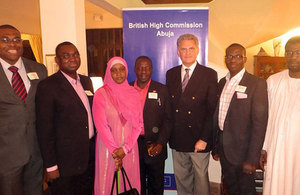 2013/14 Chevening Scholars from Nigeria at reception in Abuja to welcome home