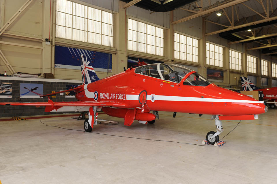 A Red Arrows Hawk jet