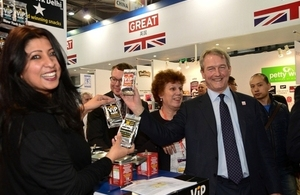Owen Paterson at UK trade stand at FHC