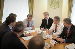Ministers met insurance industry leaders