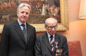 Ambassador Christopher Prentice and Harry Shindler