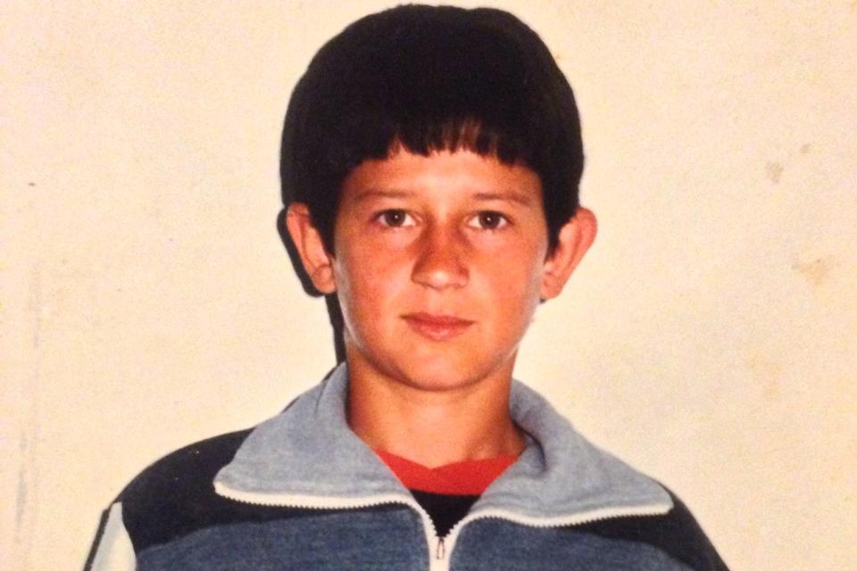 A young Arben Islami