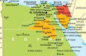 Egypt Travel Advice Update GOVUK - Map of egypt and uk