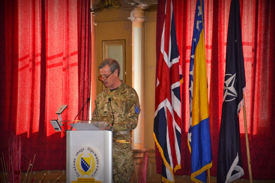 General Sir Richard Shirreff, NATO's Deputy Supreme Commander in Europe, praised the BiH Ministry of Defence and Armed Forces for their initial success with this critically important defence reform initiative