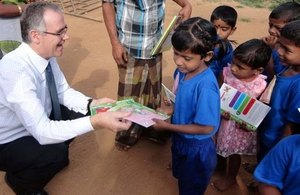 The High Commissioner made a donation of children's books, gifted by Number 10 Downing Street.