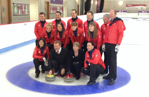 David Mundell with curling team