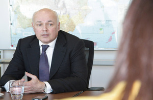 Iain Duncan Smith visits benefit fraud team in Spain