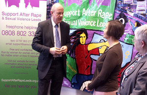 Damien Green at rape support centre