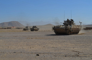 British Army Warrior vehicles on patrol in Helmand province (library image) [Picture: Crown copyright]
