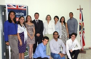 Dominican Music Students with Ambassador Steven Fisher