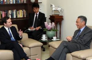 The Chancellor of the Exchequer, the Rt Hon George Osborne MP called on Singapore Prime Minister Lee Hsien Loong.