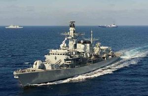 HMS Montrose heads home after taking part in the operation to remove chemicals from Syria [Picture: Crown copyright]