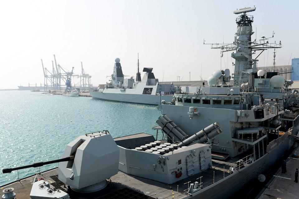 HMS Montrose and HMS Diamond