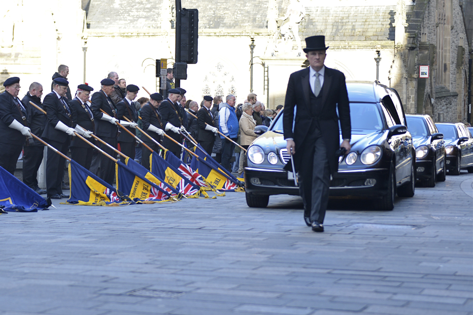 Captain Richard Holloway's funeral (All rights reserved.)
