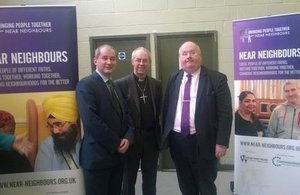 Stephen Williams, Justin Welby and Eric Pickles at the Near Neighbours event.