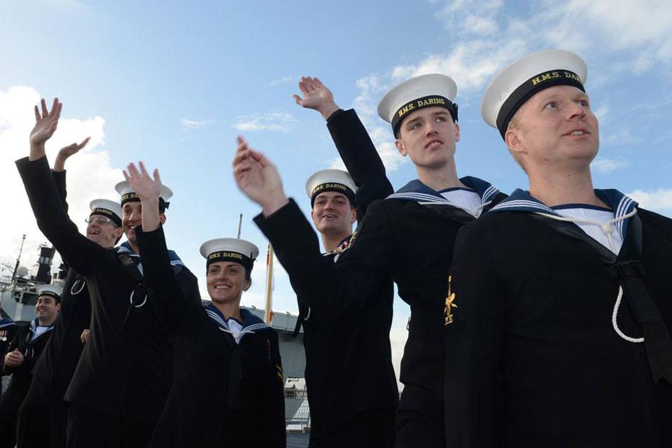Members of HMS Daring's crew