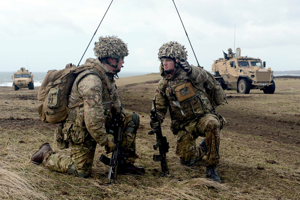 Soldiers from 1st The Queen's Dragoon Guards