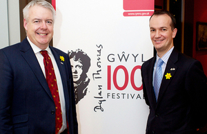 First Minister Carwyn Jones and Consul General Danny Lopez. Photo by Dan Callister.