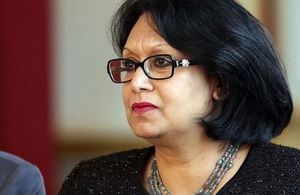 Baroness Verma, the UK's Energy Minister from the Department of Energy and Climate Change