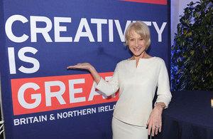 Helen Mirren celebrates UK creativity in Los Angeles