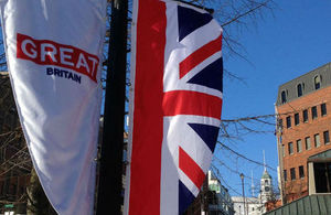 GREAT Britain flags on display in downtown Halifax