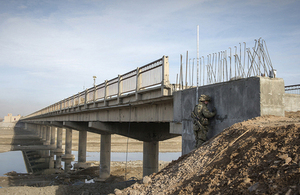 The bridge near Gereshk in central Helmand [Picture: Corporal Ross Fernie RLC, Crown copyright]