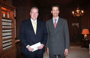 On 26 February, British Ambassador David Moran presented credentials to HRH Hereditary Prince Alois of Liechtenstein at Vaduz Castle.