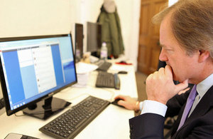 Hugo Swire answering questions via twitter