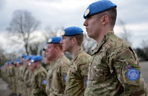 Reservists from the London Regiment are deploying to Cyprus [Picture: Sergeant Russ Nolan RLC, Crown copyright]