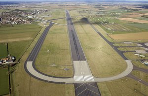 Aerial view of RAF Waddington's airfield [Picture: Sergeant Laura Bibby, Crown copyright]