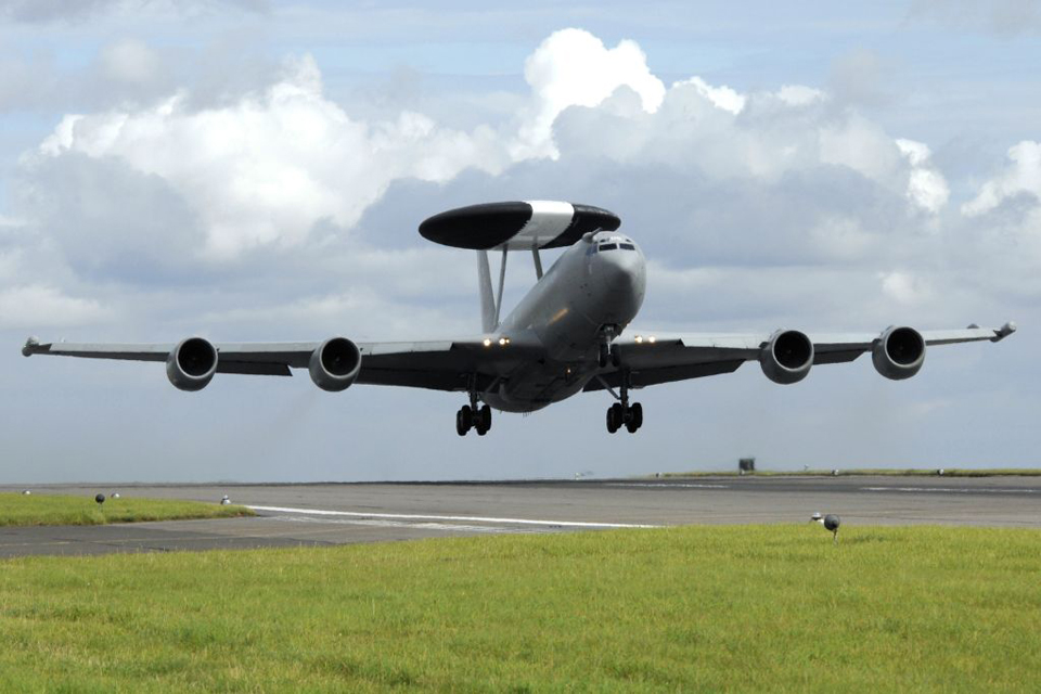 E-3D Sentry aircraft taking off