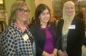 Laura Marks Founder and Chair of Mitzvah Day, Baroness Warsi and Julie Sidiqui Executive Director of the Islamic Society of Britain.