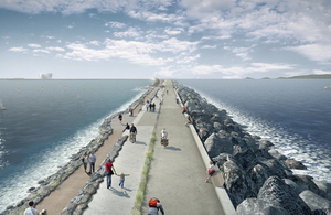 Artist's impression of Swansea lagoon wall