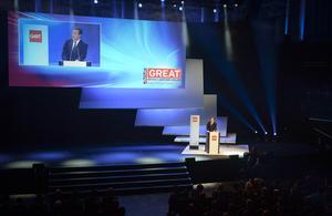 David Cameron and Chancellor Merkel at CeBIT trade fair