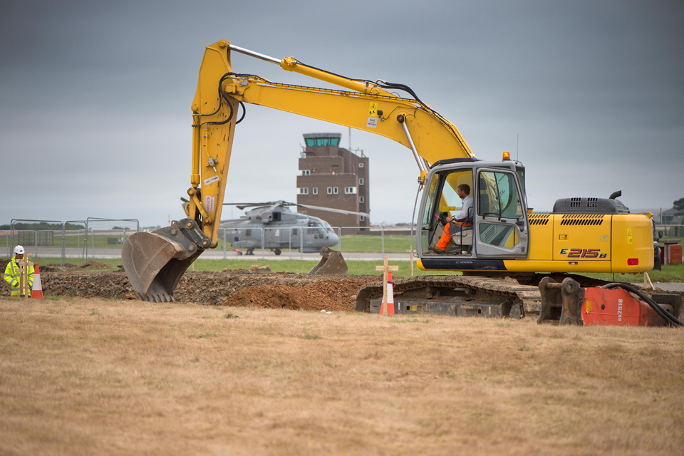 Runway resurfacing at Royal Naval Air Station Culdrose