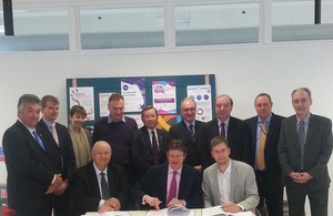 Cities Minister Greg Clark signing Greater Brighton City Deal