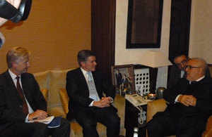Hugh Robertson with the Moroccan Head of Government Abdelilah Benkirane