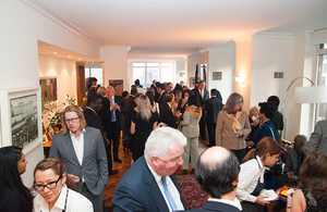 Guests from around the Commonwealth at the British residence in New York.