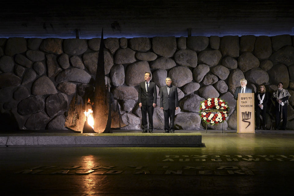 David Cameron at Yad Vashem