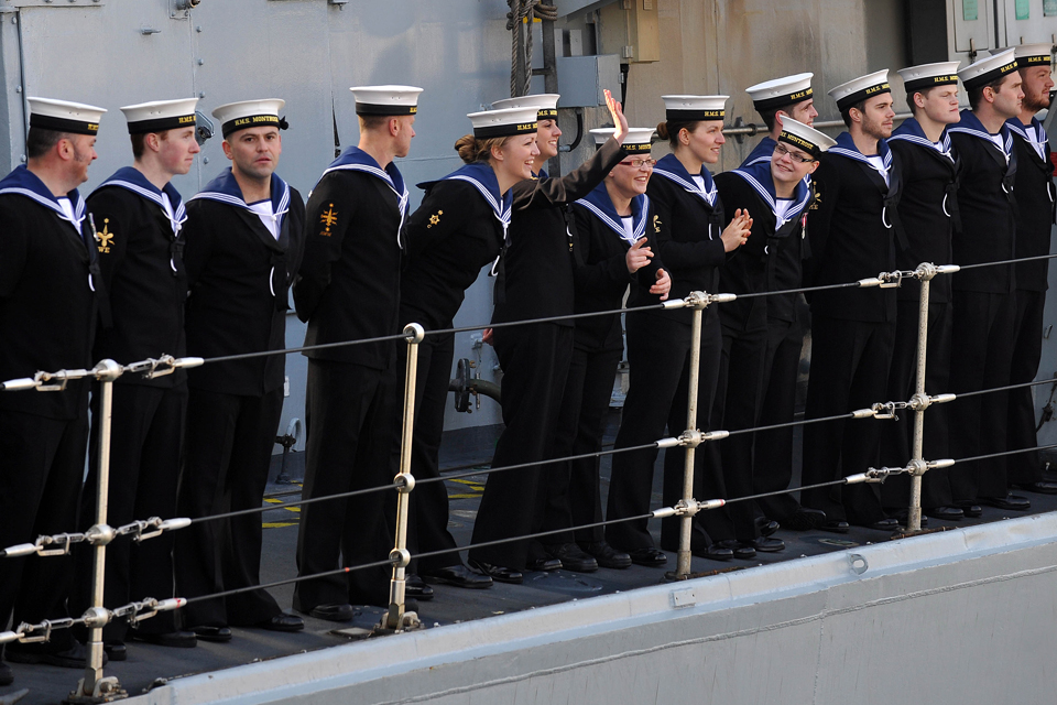 Members of the ship's company