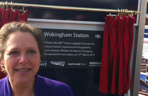 Baroness Kramer at Wokingham Station