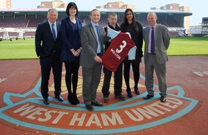 Minister for Pensions Steve Webb marks 3 million automatically enrolled at West Ham United