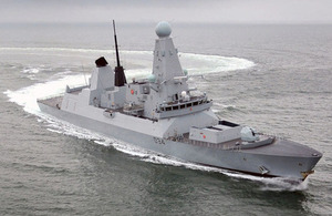 HMS Diamond (library image) [Picture: Leading Airman (Photographer) Nick Crusham, Crown copyright]