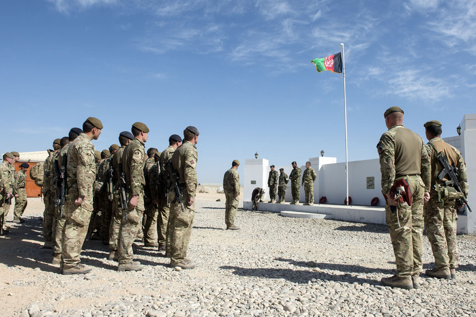 MOB Lashkar Gah being handed over to the Afghan National Security Forces