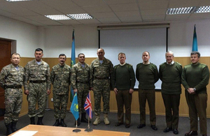 Brigadier Gamble met with Major Generals Ospanov and Bizhanov in the Ministry of Defence on 5 March